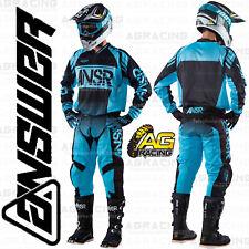 "Answer Syncron Blue Black Adult Race Kit 38"" Pants XL Jersey Motocross"