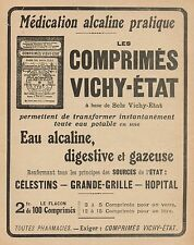 Y9422 Comprimès Vichy-Etat - Pubblicità d'epoca - 1917 Old advertising