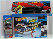 LOT 3- Hot Wheels CITY SPEEDWAY Race Set + MEGA HAULER Hold 50 Cars + 5 Pack Car