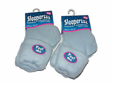 2 X WOMENS LADIES BLUE COSY SLEEPERZZZ THERMAL BED SOCKS WITH BRUSHED LINING