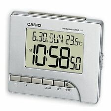 Reloj DESPERTADOR Casio Digital LED Tiempo CLIMA TEMPERATURA repetición de alarma calendario DQ-747
