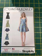 Simplicity K1873 Ladies Cynthia Rowley Dress US 6-14 New and Uncut
