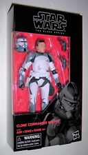 "Star Wars 6"" Black Series CLONE COMMANDER WOLFFE Exclusive New Sealed MOC"