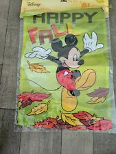 New listing Happy Fall Mickey Mouse Garden 12.5 x 18 Flag