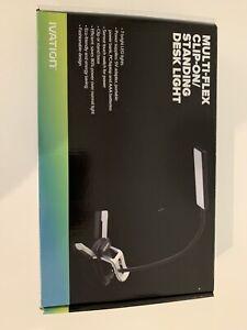 Ivation Multi-Flex Clip-On Standing Desk Light 7 LED Lights 5V USB Adapter New