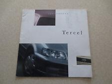 1995 Toyota Tercel automobile advertising booklet