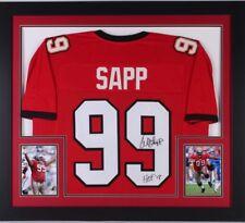 WARREN SAPP TAMPA bay Bucs 32x36 custom framed autographed jersey ~ (JSA coa)
