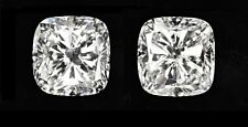 20.37 ct GIA G VVS2/VS1 cushion solitaire diamond studs platinum push backs