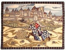 "NEW 24"" x 18"" MEDIEVAL CARCASSONNE TAPESTRY WALL HANGING, BEAUTIFUL GIFT IDEA"
