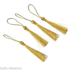 100pcs 6cm Golden Handmade Silk Satin Tassels Polyester Decoration Pendant