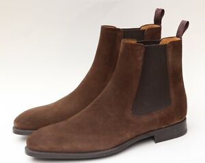 Magnanni 'Bareyo' Mid Brown Mens Suede Chelsea Boots Shoes Size 12 M