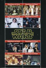 Chad 2019 CTO Star Wars Han Solo Princess Leia Luke Skywalker 8v M/S Stamps