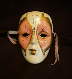 Painted Porcelain Wall Mask