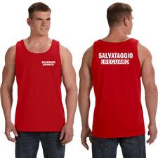 Canotta tshirt salvataggio bagnino sicurezza lido mare spiaggia lifeguard mare
