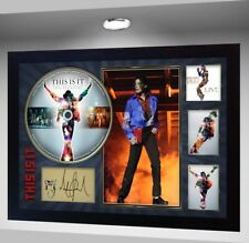 "NEW! Michael Jackson SIGNED FRAMED PHOTO AND""THIS IS IT"" CD Disc"