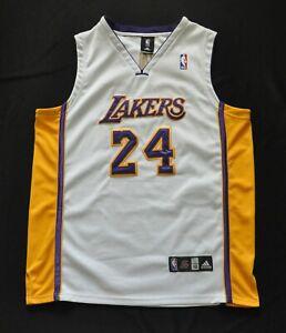 KOBE BRYANT #24 MAMBA Los Angeles Lakers ADIDAS Jersey White SEWN 52 2XL *READ*