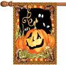 Toland Jack Pumpkin 28 x 40 Spooky Black Halloween Eyes House Flag