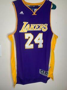 Kobe Bryant #24 Purple Los Angeles Lakers Jersey Size 50 L