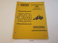 Original OMC 880 Front End Loader Operator's Manual LOTS More Listed LG6