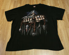 Men's Hot Rock Clothing T-Shirt Game Over Reaper Skull Double Sided Print Sz XL