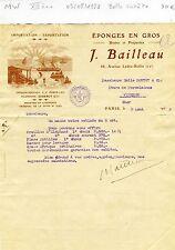 Paris XII ème 68 Av. Ledru Rollin - Belle Entête Import & Export d'Eponges  1928