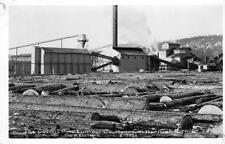 RPPC COLLINS PINE LUMBER CO Chester, California Logging Mill ca 1940s Postcard