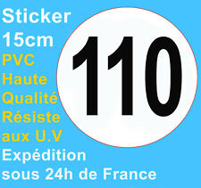 Sticker speed restriction limited to 110 km/h vinyl Truck Car Bus Van Vehicle HQ
