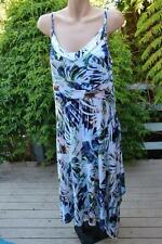 RIVERS Palm Print HANKY Hem DRESS Size 16 NEW RRP $49.95 Shirred Back. STRETCH