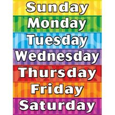 Days of the Week Chart Teacher Created Resources TCR7608