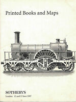 Printed books and maps Sothebys London 12 and 13 June 1997 - Catalogo RARO