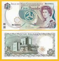 Isle of Man 5 Pounds p-48 2015 UNC Banknote