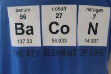 Men's 2 Monkeys T-Shirt Sz 4X Periodic Table Bacon Key Element of Life Blue
