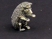 Hedgehog English Pewter Pin Cushion by A E Williams Birmingham UK Boxed