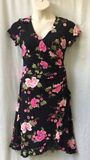 Rockmans Size 14 Dress Stretch Cap Slv Work Smart Casual Evening Occasion Party