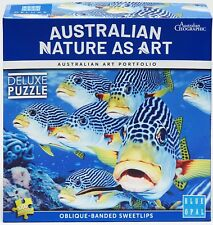Blue Opal Jigsaw Australian Nature As Art Puzzle Oblique-band Sweetlips 1000 p