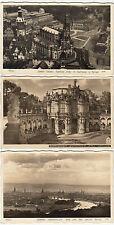 3 x robinet Photo AK Nº 4396, 4591 et 7877 Dresde 1938/41 Hofkirche, Cage (1791