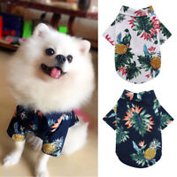 Summer Dog Clothes T-shirt Chihuahua Pet Puppy Cat Beach Style Soft Vest Yorkie