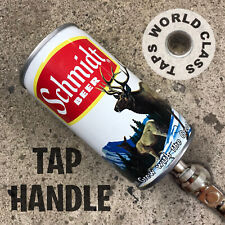 vintage SCHMIDT ELK DEER beer can TAP HANDLE marker BAR kegerator scenic NW