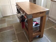 Reclaimed rustic English oak butchers block kitchen island furniture storage ..