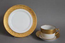 Thistle Gold Haviland Limoges France 3-teiliges Kaffeegedeck Tasse Untere Teller