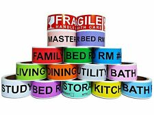 Home Moving Labels Stickers Packing Room Messages Sign Fragile Symbol 800 count