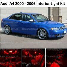 RED PREMIUM AUDI A4 S4 B6 2000 - 2006 LED INTERIOR UPGRADE KIT SET XENON