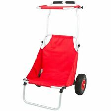 Red Folding Beach Chair & Cargo Carrying Dolly