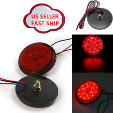 1x Red Round LED Reflector Tail Brake Stop Marker Light For Car Truck Motorcycle