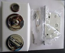 Maniglie kit per porta scorrevole scrigno tondo con serratura oro lucido o cromo