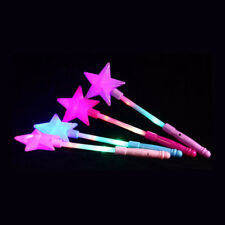 Portable LED Flashing Magic stick Wand Five-pointed Star Fairy Wand Luminous toy