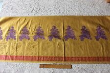 Exquisite French Antique 19th Hand Loomed Bird & Tree Gold Metallic Silk Brocade
