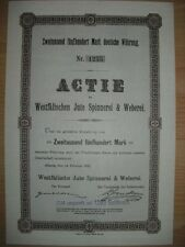 Westfälische Jute Spinnerei & Weberei Ahaus  1922   ungelocht