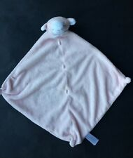 "Angel Dear -Pink Lamb 12"" Security Baby Girl Blanket Soft Plush Toy Blankie EUC"