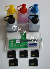 5 x Toner Refill + Chips For Xerox Phaser 6010 6000 Workcentre 6015 106R01630